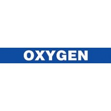 "Adhesive Pipe Marker - OXYGEN - 1"" x 9"" - 72 Per Roll"