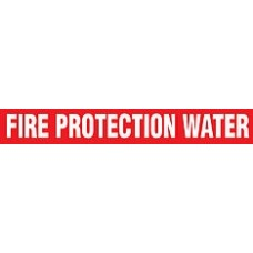 "Adhesive Pipe Marker - FIRE PROTECTION WATER- 1"" x 9"" - 72 Per Roll"