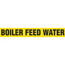 """Adhesive Pipe Marker - BOILER FEED WATER - 1"""" x 9"""" - 72 Per Roll"""