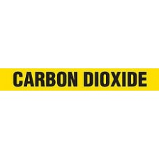 """Adhesive Pipe Marker - CARBON DIOXIDE - 1"""" x 9"""" - 72 Per Roll"""