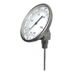 "PIC Bimetal Dial Type Thermometer - 5"" Dial - 6"" Stem - Adjustable Angle"