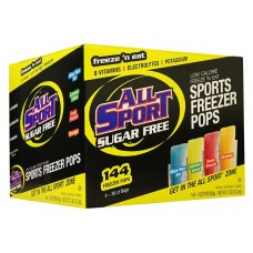All Sport Sugar Free Hydration Freezer Pops - Assorted Flavors - 3 Oz Packs - 144 / Carton