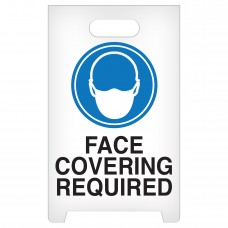 """A-Frame Standing Floor Sign - Face Covering Required - 12"""" x 19"""""""