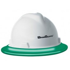 BrimGuard ID - Full Brim Hard Hat Band - Green- 12 Pack