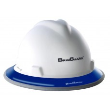 BrimGuard Hi-Viz Dual - Reflective Full Brim Hard Hat Band - Blue - 12 Pack