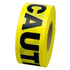 "Primeguard 1.5 Mil Value Grade Barricade Tape, 3"" x 1000', CAUTION"