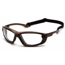 Carhartt Toccoa CHB1010DTMP Safety Glasses - Black and Tan Frame  - Clear H2MAX Anti-Fog Lens