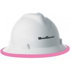 BrimGuard DripGuard ID - Full Brim Hard Hat ID Band - Pink - 12 Pack