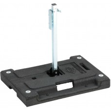 Dicke DSB100-W Stacker - 42 lbs Rubber Base Stands for Roll-Up Signs w/ Screwlock Panel Holder