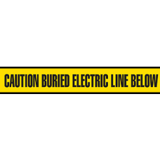 "Incom 6"" x 1000' Utility Grade Barricade Tape - Caution Buried Electric Line Below - 6 Rolls/ Case"