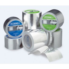 "Aquasol EZ Zone Tape Adhesive 2"" Free Center Aluminum Tape - 4"" x 75' - 12 Rolls / Case"