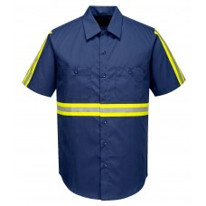 Portwest F124 Iona Xtra Work Shirt - Short Sleeve - Navy