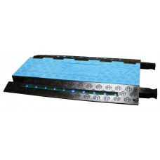 Checkers FF5X125 5-Channel Firefly Illuminated Cable Protector - Blue / Black
