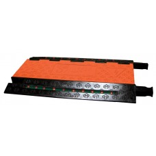 Checkers FF5X125 5-Channel Firefly Illuminated Cable Protector - Orange / Black