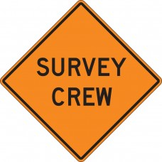 "36"" x 36"" Mesh Vinyl Roll-Up Construction Sign: Survey Crew"