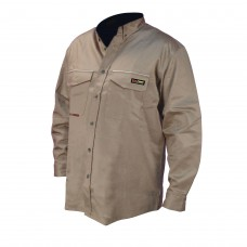 Radians FRS-001 VolCore Long Sleeve Button Down FR Shirt - Khaki