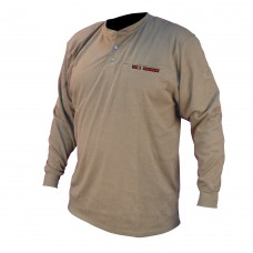Radians FRS-002 VolCore Long Sleeve Cotton Henley FR Shirt - Khaki