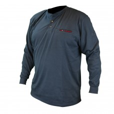 Radians FRS-002 VolCore Long Sleeve Cotton Henley FR Shirt - Navy