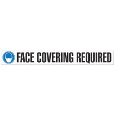 """FACE COVERING REQUIRED - Anti-Slip Indoor Floor Sign - 3"""" x 24"""" - 5 / Pack"""