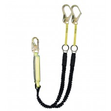 SafeWaze FS578 High Profile Dual Leg Energy Absorbing Lanyard w/Rings