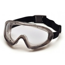 Pyramex G504DT Capstone Dual Clear Lens Chemical Goggle