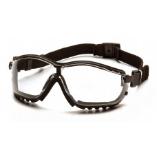 Pyramex GB1810ST V2G Safety Goggles/Glasses Black Frame Clear Anti-Fog Lens
