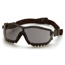 Pyramex GB1820STM V2G Safety Goggles/Glasses Black Frame Gray H2MAX Anti-Fog Lens