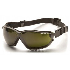 Pyramex GB1850SFT V2G Safety Goggles/Glasses - Black Frame - 5.0 IR Filter Lens