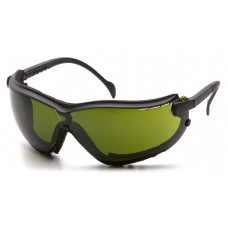 Pyramex GB1860SFT V2G Safety Goggles/Glasses - Black Frame - 3.0 IR Filter Lens