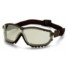 Pyramex GB1880ST V2G Safety Goggles/Glasses - Black Frame - Indoor/Outdoor Mirror Anti-Fog Lens