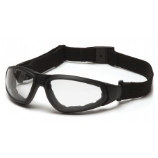 Pyramex GB4010STM XSG Safety Glasses/Goggle - Black Frame - Clear H2MAX Anti-Fog Lens