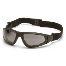 Pyramex GB4020ST XSG Safety Glasses/Goggle Black Frame Gray Anti-Fog Lens