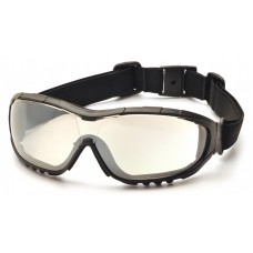 Pyramex GB8280ST V3G Safety Glasses - Black Frame - I/O Mirror Anti-Fog Lens - (CLOSEOUT - LIMITED STOCK AVAILABLE)