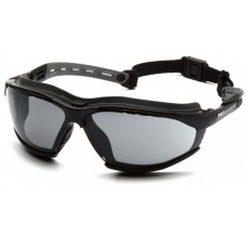 Pyramex GB9420STM Isotope Safety Glasses/Goggles Black Frame w/ Rubber Gasket - Gray H2MAX Anti-Fog Lens