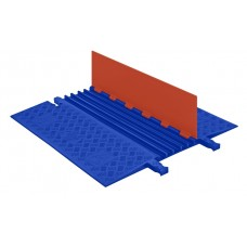 Checkers GD5X75 5-Channel Guard Dog Low-Profile ADA Cable Protector - Orange / Blue