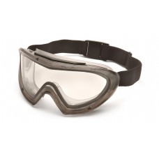 Pyramex GG504T Capstone Safety Goggles Gray Frame Clear Lens Anti-Fog