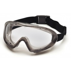 Pyramex GG504TM Gray Direct/Indirect Goggle with Clear H2MAX Anti-Fog Lens