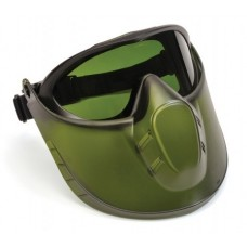Pyramex Capstone Goggle 3.0 IR Filter Lens Anti-Fog with Green Tinted Faceshield Attachment
