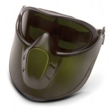 Pyramex Capstone Goggle 5.0 IR Filter Lens Anti-Fog with Green Tinted Faceshield Attachment
