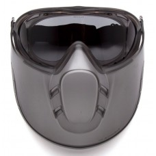 Pyramex GG524TSHIELD Capstone Goggle - Gray H2X Anti-Fog Lens with Face Shield