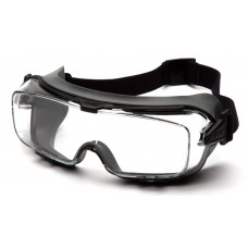 Pyramex GG9910TM Cappture Pro Safety Glasses - Rubber Gasket Frame - Clear H2MAX Anti-Fog Lens
