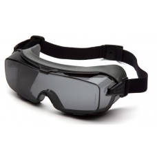 Pyramex GG9920TM Cappture Pro Safety Glasses - Rubber Gasket Frame - Gray H2MAX Anti-Fog Lens