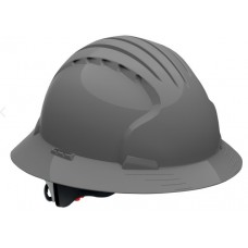 JSP Evolution Deluxe 6161 Full Brim Hard Hat, Non-Vented, Gray (CLEARANCE)