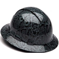 Pyramex Ridgeline Gray Snake Skin Hard Hat - Full Brim - 4Pt Ratchet Suspension - (CLOSEOUT - LIMITED STOCK AVAILABLE)