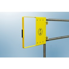 "Fabenco G72-21PC Self Closing Safety Gate A36 Carbon Steel with Safety Yellow Powder Coat, Fits 18"" – 24"" Opening"
