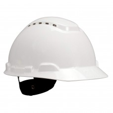 3M H-701V Cap Style Hard Hat - White 4 Pt Ratchet Susp - Vented