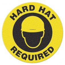HARD HAT REQUIRED Safety Floor Graphic, Anti-Slip