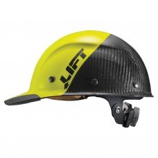 Lift Safety Dax Fifty 50 Hi Vis Yellow Carbon Fiber  - Cap Style Hard Hat