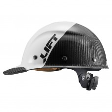 Lift Safety Dax Fifty 50 White Carbon Fiber  - Cap Style Hard Hat