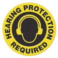 HEARING PROTECTION REQUIRED Safety Floor Graphic, Anti-Slip